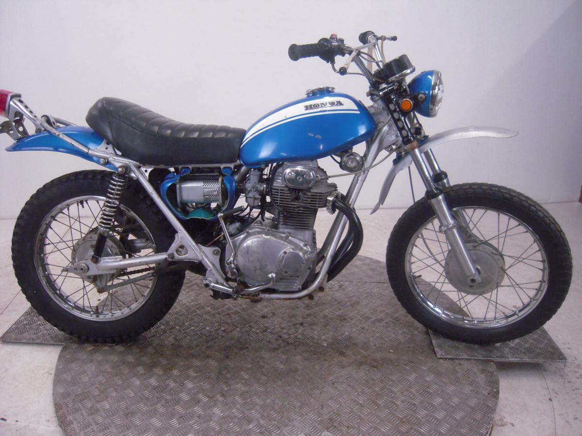 Honda SL350 K1  Sapphire blue restoration